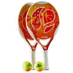 Beach tennis set 700 oranje - 151354