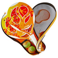Beach tennis set 700 oranje - 151360