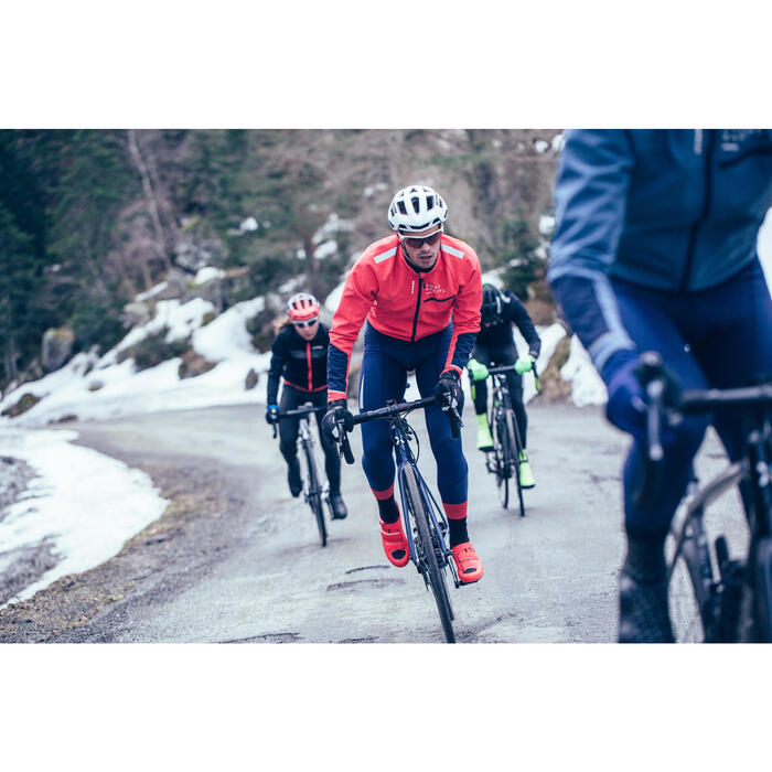 Radhose lang mit Trägern Rennrad RR 900 Winter Herren dunkelblau