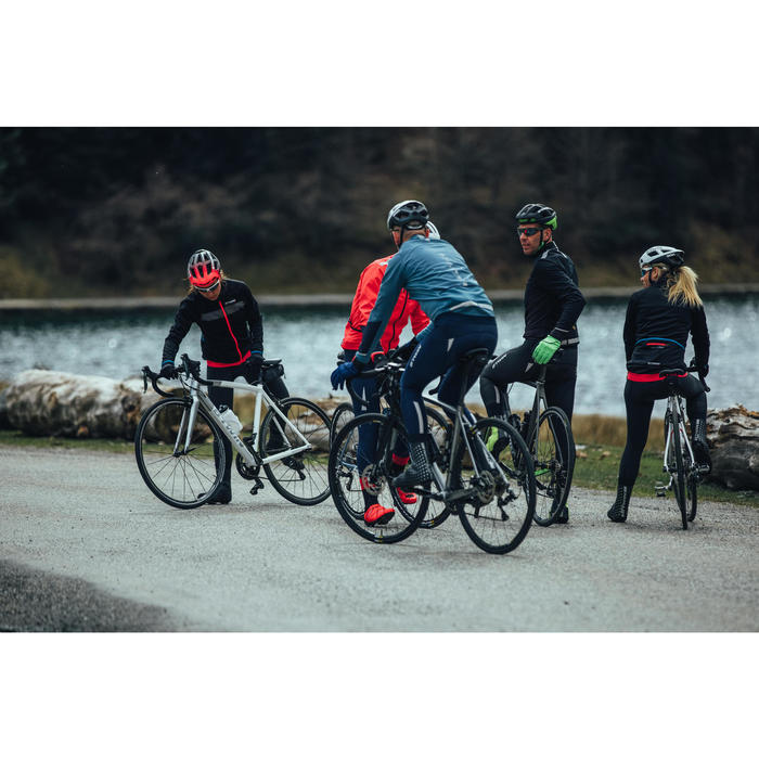 Fahrrad-Winterjacke Rennrad RR 500 Herren grau/blau