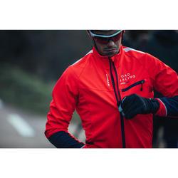 Fahrrad-Winterjacke Rennrad RR 500 Herren rot