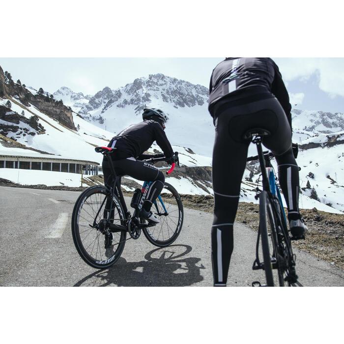 Warme lange fietsbroek 900 met membraan voor heren