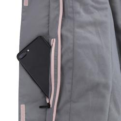 女款單/雙板滑雪外套SNB JKT 100 - 灰色/粉色