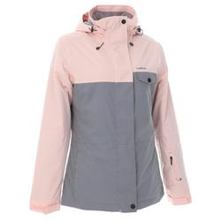 SNB JKT 100 Women's Ski and Snowboard Jacket - Grey Pink