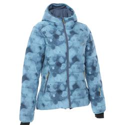 女款滑雪保暖羽絨外套500 - 藍色