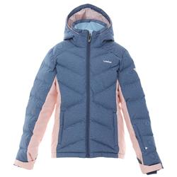 CHILDREN'S SKI JACKET WARM 500 - BLUE AND PINK