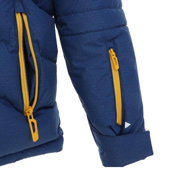 兒童滑雪外套WARM 500 - 黃色與藍色