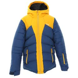 KIDS' SKI JACKET WARM 500 - YELLOW AND BLUE