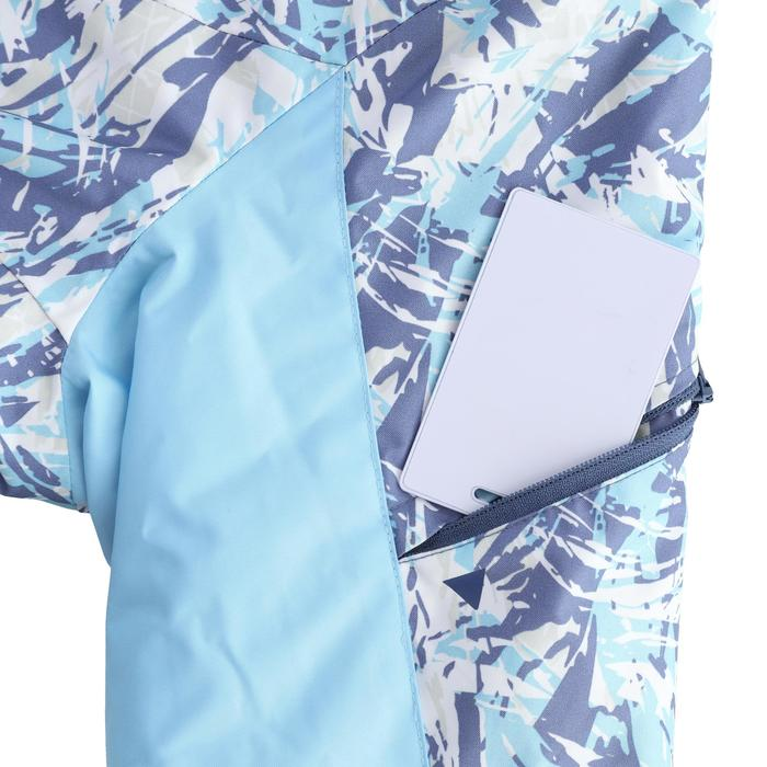 女款下坡滑雪外套180 - 藍色