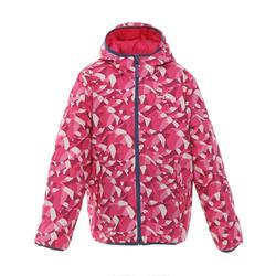 兒童保暖雙面滑雪外套SKI-P JKT 100珊瑚紅/藍色
