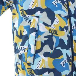 兒童滑雪外套WARM REVERSE 100 - 黃色與藍色