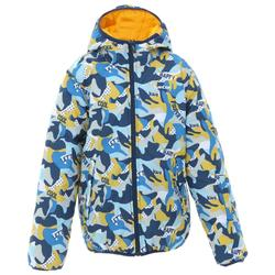 SKI-P JKT 100 WARM REVERSE CHILDREN'S SKIING JACKET YELLOW