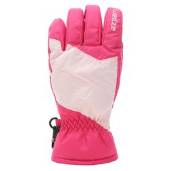 兒童滑雪手套GL 100粉紅色