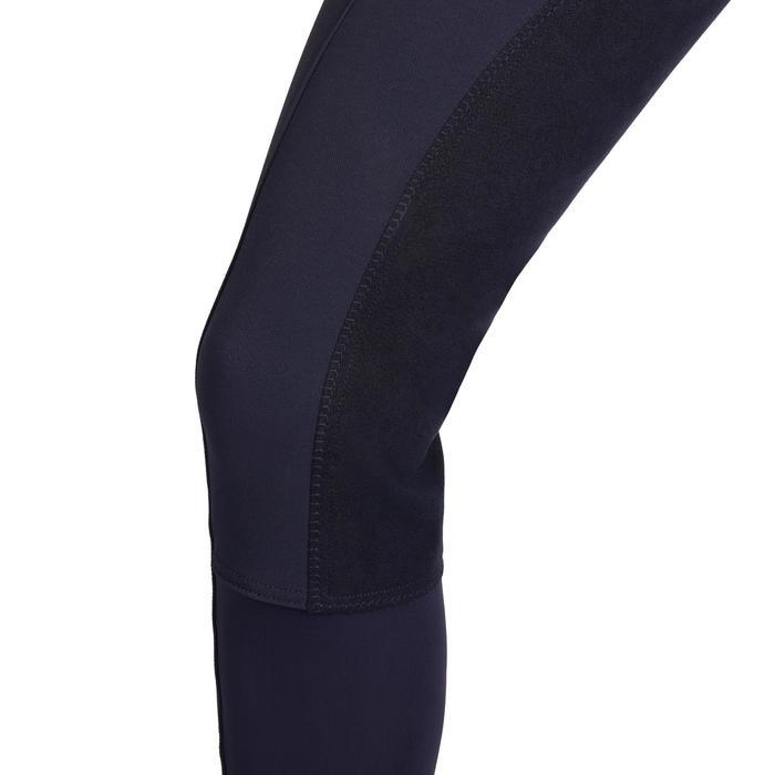 Damesrijbroek met kunstleren zitvlak BR780 fullseat marineblauw