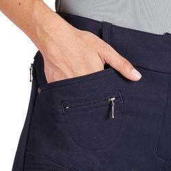 Pantalon fond de peau équitation femme 580 FULLSEAT marine