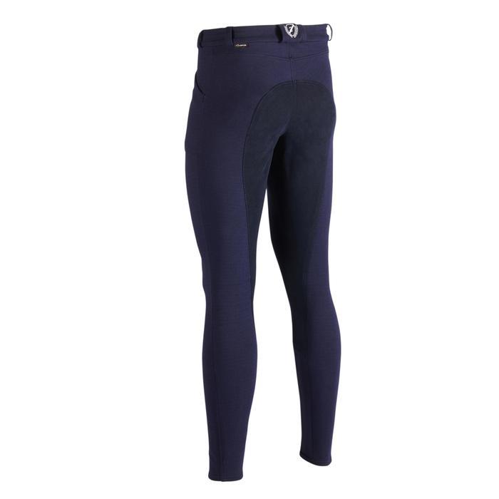 Pantalón cálido equitación hombre BR180 WARM badana azul marino