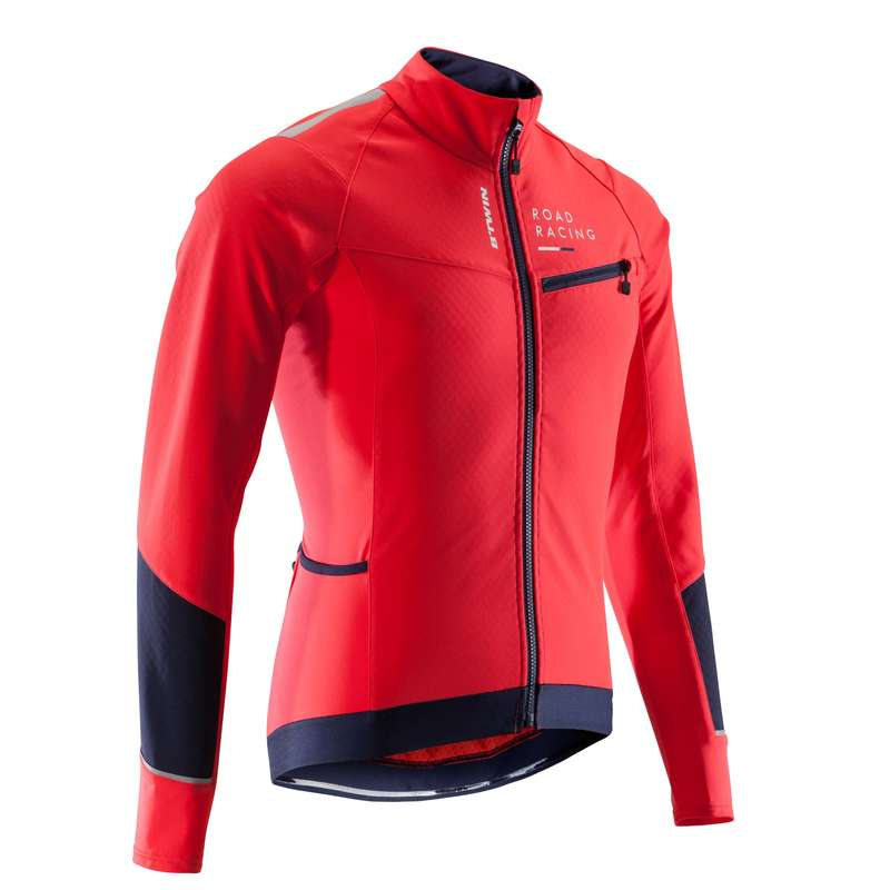 MEN COLD WEATHER ROAD RACING APPAREL Cycling - RC 500 Winter Road Cycling Jacket - Red  VAN RYSEL - Cycling