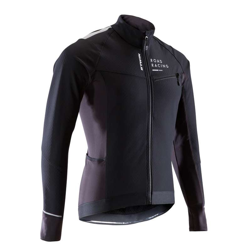 MEN COLD WEATHER ROAD RACING APPAREL Cycling - RC 500 Winter Road Cycling Jacket - Black VAN RYSEL - Cycling