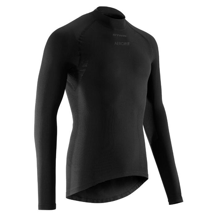 Fahrrad-Unterwäsche Langarm-Funktionsshirt 900 Herren schwarz