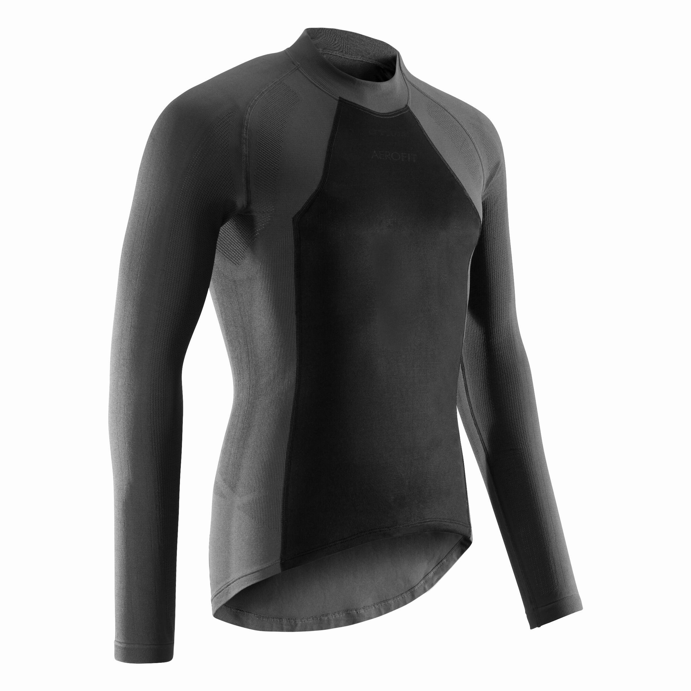 Fahrrad-Unterwäsche Langarm-Funktionsshirt Herren | Sportbekleidung > Funktionswäsche | Grau | B´twin