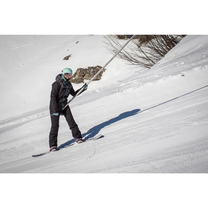 女款單/雙板滑雪長褲SNB PA 500 - 黑色