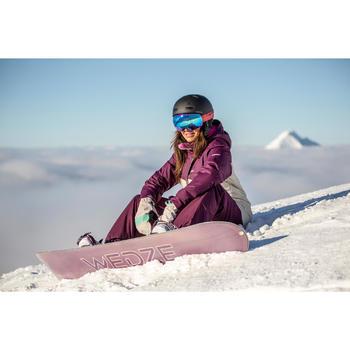 Snowboard pista y all mountain, Mujer, Serenity 100 blanco, azul claro y violeta