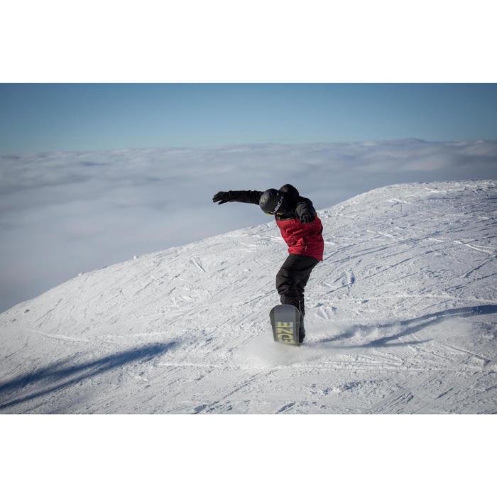 Ski- en snowboardjas SNB JKT 500 voor heren bordeaux en zwart
