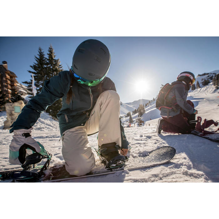 Pack snowboard pista y fuera de pista, mujer, Serenity 500, azul oscuro