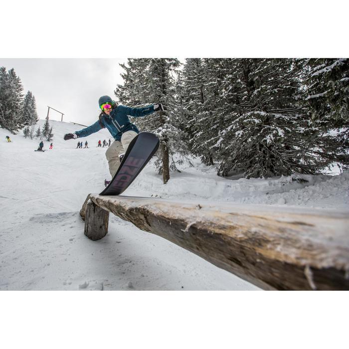 Snowboard- en skibroek voor dames SNB PA 500 vlaskleur