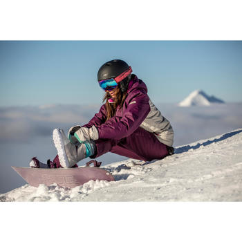 Chaussures de snowboard, all mountain, femme, Maoke 300 - Fast Lock 2Z, blanches - 1515160