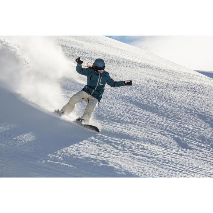2-in-1-wanten voor snowboarden en skiën SNB MI 500 vlaskleur