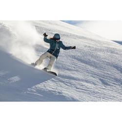 單/雙板滑雪連指手套SNB MI 500 - 亞麻色