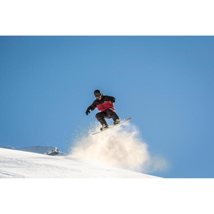Chaqueta snowboard y esquí hombre SNB JKT 500 burdeos y negro