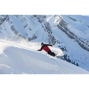 Snowboard- en skibroek voor heren SNB PA 500 zwart