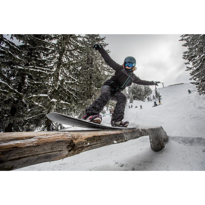 Snowboard freestyle pack voor dames Endzone 500 paars
