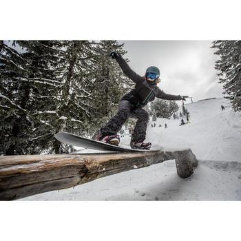 Snowboardhose SNB 500 Damen camouflage schwarz