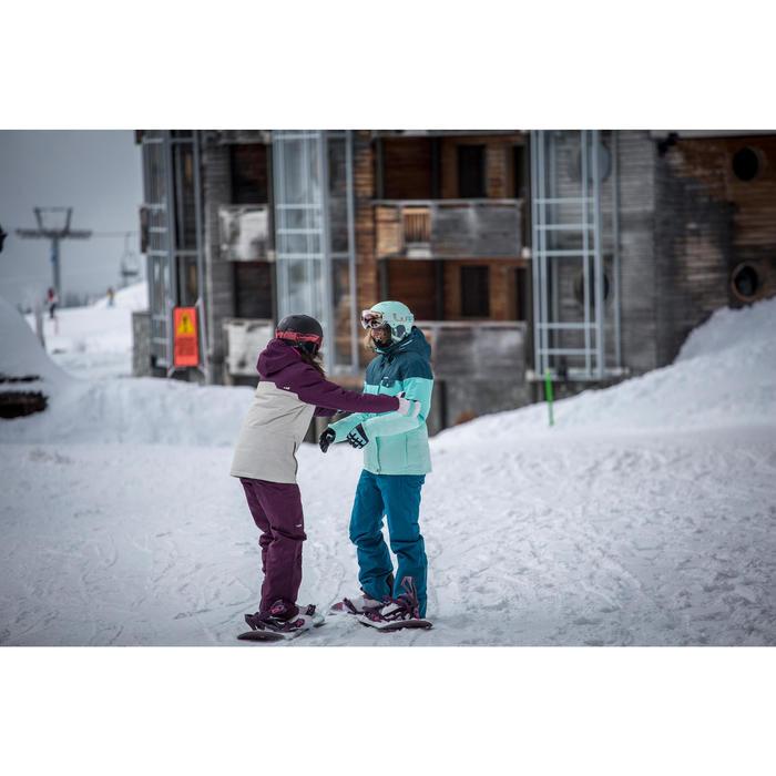 Snowboard- en skibroek voor dames SNB PA 100 paars