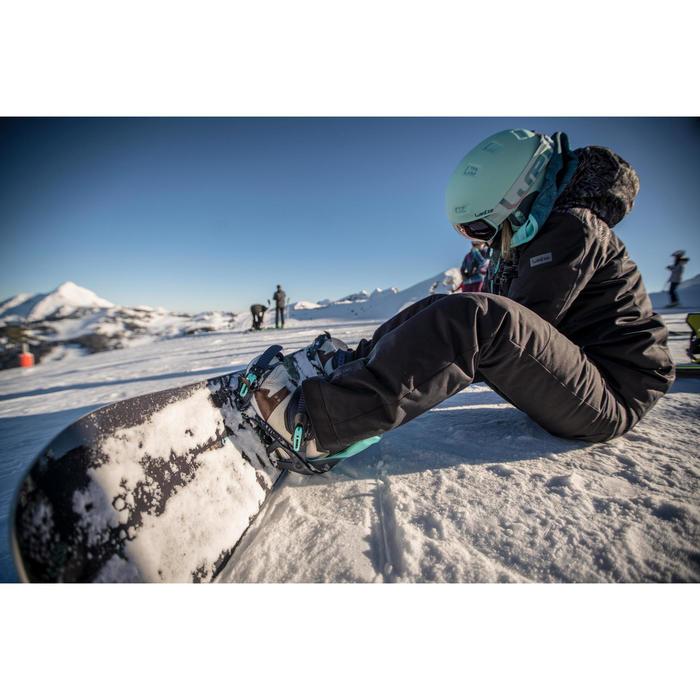 Snowboard- en ski-jas voor dames SNB JKT 500 camouflage zwart