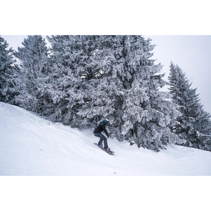 Pantalon de snowboard et de ski femme SNB PA 500 camo noir