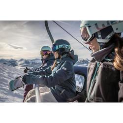 Manoplas de Snowboard y Esquí, Wed'ze SNB 500, 2 en 1, Impermeable, Blanco