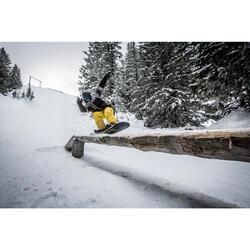 Ski- en snowboardjas SNB JKT 500 voor heren print zwart