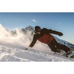 Veste de snowboard et de ski homme SNB JKT 500 bordeaux et noir