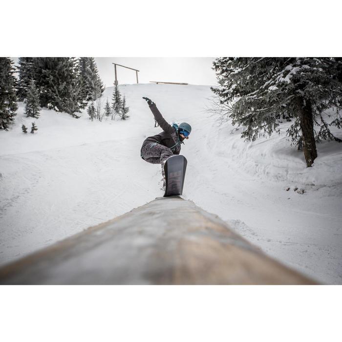 Snowboard- en skibroek voor dames SNB PA 500 camo zwart