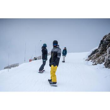 Chaqueta snowboard y esquí hombre SNB JKT 500 estampado negro