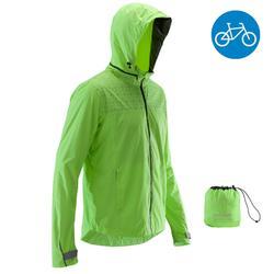 500 City Cycling Rain Jacket - Neon Yellow