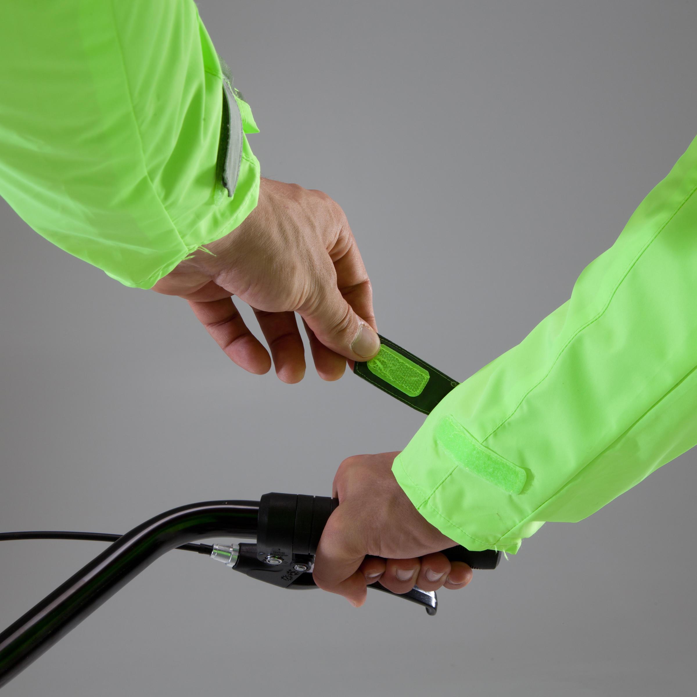 500 Cycling Rain Jacket - Neon Yellow