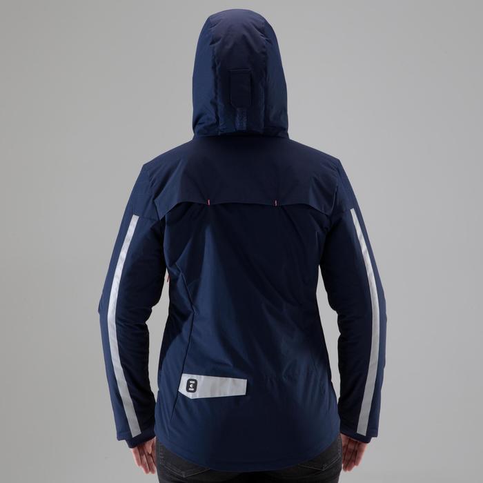 Warme regenjas voor op de fiets 900 dames marineblauw