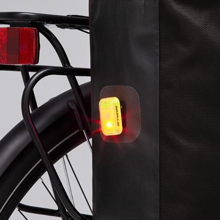 Waterproof Pannier Rack Bike Bag 500 20L - Black