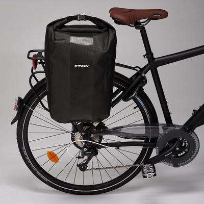 500 Waterproof Pannier Rack Bike Bag 20L - Black