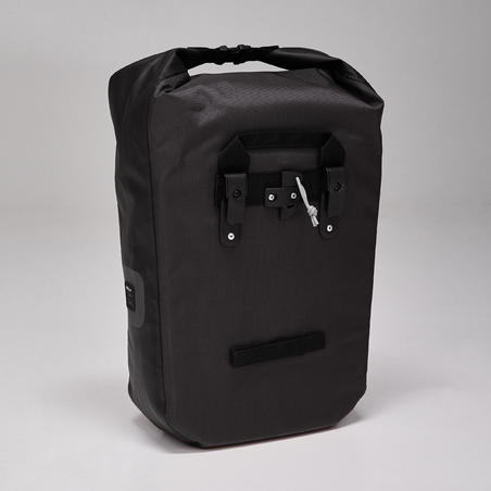 500 Waterproof Pannier Rack Bike Bag 20L - Black